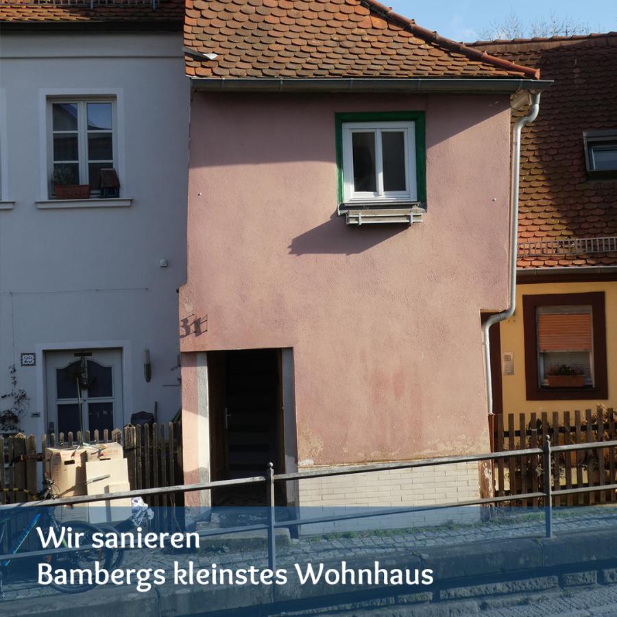 Sanierung von Bambergs kleinstem Wohnhaus