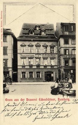 Postkarte, gelaufen 10. Februar 1906, Verlag Wilhelm Kröner, Bamberg (mit freundlicher Genehmigung von Christian Schmitt)